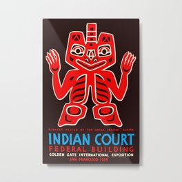 Haida Indians Alaska Blanket Design Metal Print