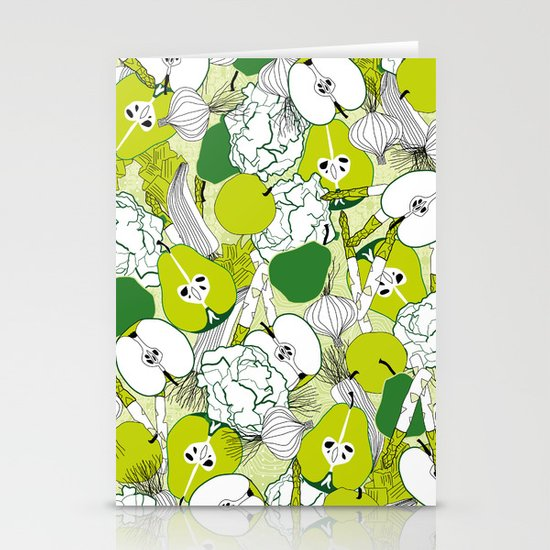 Vegetable pattern Stationery Cards