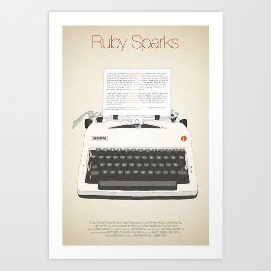 Ruby Sparks Art Print