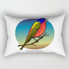PAINTED BUNTING Rectangular Pillow