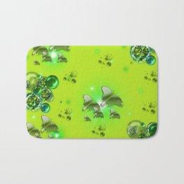 Greenery - Butterflies and Bubbles Bath Mat
