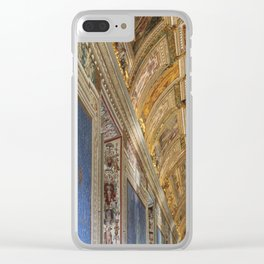 Blue And Gold Clear iPhone Case