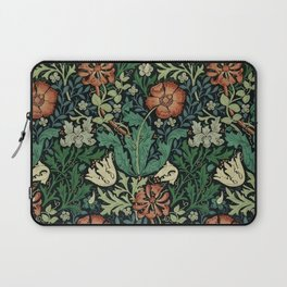 William Morris Compton Floral Art Nouveau Pattern Laptop Sleeve