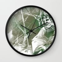 yoda Wall Clocks featuring Yoda by Luis Dourado
