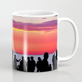 Silhouettes in the sunset Coffee Mug