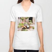 dublin V-neck T-shirts featuring Dublin Flower Shop by Judith Kimber Photography