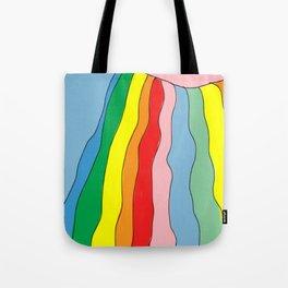 Brazil Girl Skirt Rainbow Tote Bag