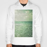 modern Hoodies featuring Sea of Happiness by Olivia Joy StClaire