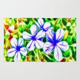 Blue Plumbago flower Rug