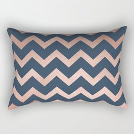 Blue & Pink Chevron Rectangular Pillow