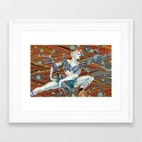tank girl Framed Art Prints featuring Tank Girl by Alex Bayliss