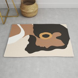 Lovely girl - Muted palette - Modern abstract hand drawn art Rug