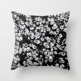 Black and White Barnacles Throw Pillow