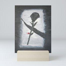 Black Baccara Rose Mini Art Print