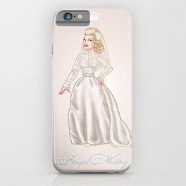 Grace Kelly Royal wedding dress - retro movies fashion - pinup - Hollywood iPhone Case