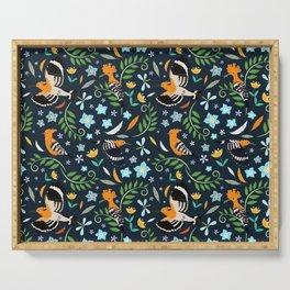 Hoopoe bird pattern Serving Tray
