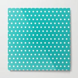 Small dots on tiffany blue Metal Print
