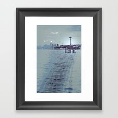 Seattle blues Framed Art Print