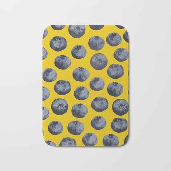 Blueberry pattern Bath Mat