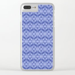 Weave pattern Clear iPhone Case