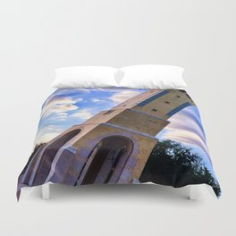 Leaning tower of Mary Duvet Cover