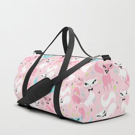 Swanky Kittens on Pink Duffle Bag