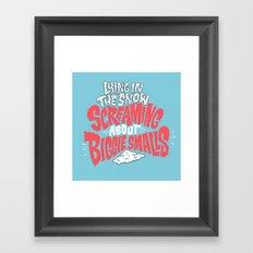 Lying in the snow screaming... Framed Art Print