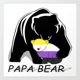 Papa Bear Nonbianary Art Print