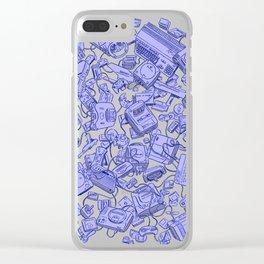 Retro Gamer - Blue Clear iPhone Case