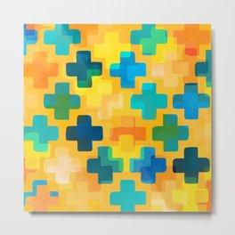 Positivity / Abstract Geometric Pattern Metal Print