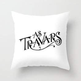 As Travars - To Travel (black) Throw Pillow
