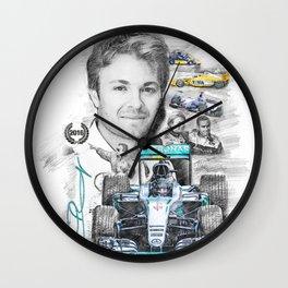 Nico Rosberg Wall Clock