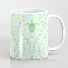 Sea Turtle Watercolor Pattern Coffee Mug