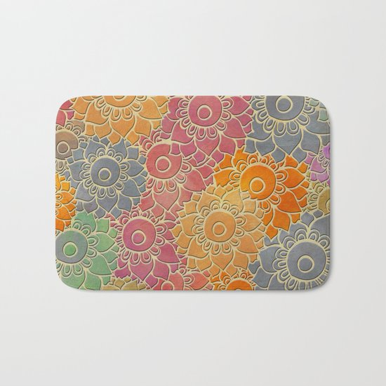 Flower Pattern 2 Bath Mat