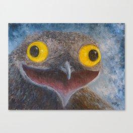 Common Potoo (Nyctibius griseus) Canvas Print