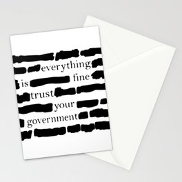 Trust Your Government Stationery Cards