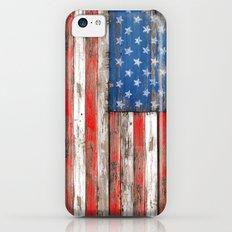 USA Vintage Wood Slim Case iPhone 5c