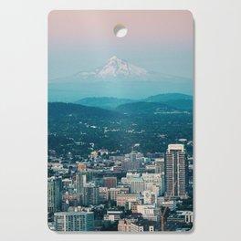 Portland Skyline with Mount Hood Cutting Board