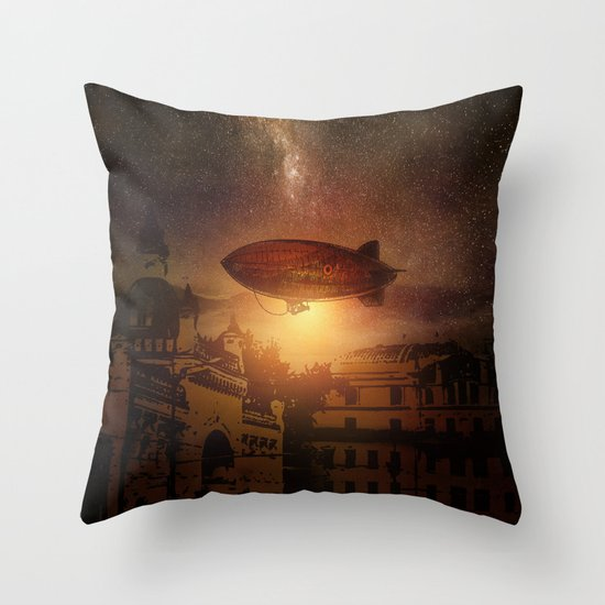 A Trip down the Sunset II Throw Pillow
