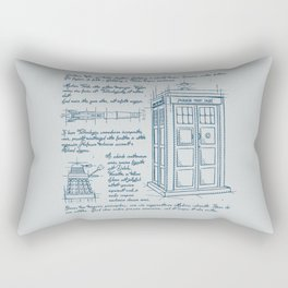 Tardis Plan Rectangular Pillow
