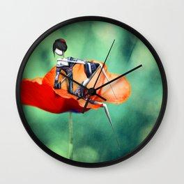 La fille au Coquelicot Wall Clock
