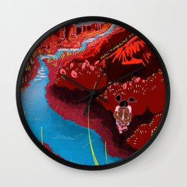 Desert Edge Wall Clock