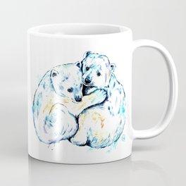 Polar Bear Brothers - Watercolor Painting Coffee Mug