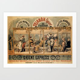 1896 Orient Express musical revue Paris Art Print
