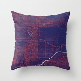 Scottsdale, AZ, USA, Blue, White, City, Map Throw Pillow