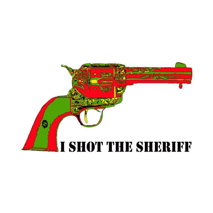 I shot the sheriff Duvet Cover