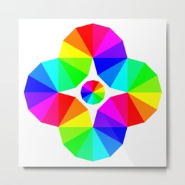Twisted 12 Color Wheel Eye Metal Print