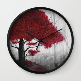 The Dark Forest (color) Wall Clock