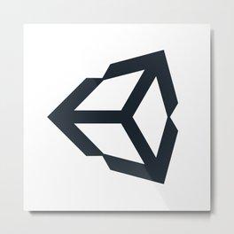 unity 3d engine logo sticker Metal Print