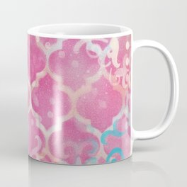 Layered Patterns - Pink, Coral, Turquoise and Cream Coffee Mug